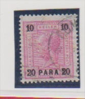 Levant Autrichien   //  N 33a  //  20 Pa Sur 10 Heller Rose // Côte 270 € - Levant Autrichien