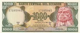 1000 Sucres Banco Central Del Ecuador 1986 Qfds - Ecuador