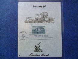 1962 USA Souvenir Leaf FDC Scott # 1198 Homestead Act - First Day Covers (FDCs)