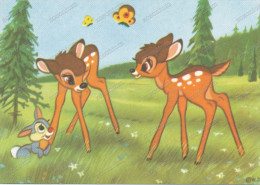 2 BAMBI, Rabbit, -  Lapin, Old Postcard - Disneyland