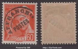 Préo 60c Mercure Neuf * TB(Dallay N° 82 , Cote  25€) - Preobliterados