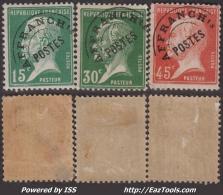Préo 15c 30c 45c Pasteur Neuf * Aspect TB (Dallay N° 48 à 50 , Cote  88€) - 1893-1947