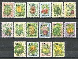 ILES SAMOA. Les Fruits Des îles Samoa.  16 T-p Neufs **. Yv. 537/52. - Samoa