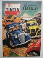 Tintin N° 38 De 1954  Couverture Et Histoire Complete  De Graton  Auto -rodeo  Bon état - Tintin