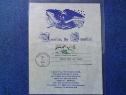 1966 USA Souvenir Leaf FDC Scott # 1318 Beautification Of America - First Day Covers (FDCs)