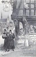 Histoire - Paris Au Moyen-Age - Illustrateur Robida Série 12 Cpa Sans La Pochette - Mermaid Cimetière Innocents Temple - Historia