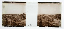 Photo Plaque De Verre / Vue Stéréo / WW1 Guerre 14/18 / Nieuport / Nieuwpoort (Belgique) - Le Mamelon Vert - Diapositivas De Vidrio