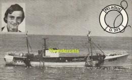 DOODSPRENTJE VISSER GILBERT STEVELINCK OOSTENDE 1965 OVERLEDEN SCHEEPSRAMP PELAGUS O 202 1982 VESTMANN AEYJAR - Images Religieuses