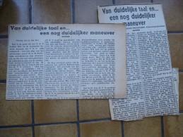 Krantenartikel : Van Duidelijke Taal En ... Door Reimond Tollenaere , Volksvertegenwoordiger// Over V.N.V.  En K.V.V. - Revues & Journaux