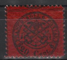 Italy Church State 1868 Coat Of Arms 20C Mi.23b MNH AM.302 - Etats Pontificaux
