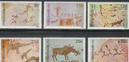 ZIMBABWE 1982 MNH Stamp(s) Cave Paintings 259-264 #5076 - Art