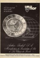 # ARTHUR IMHOF SA - LA CHAUX-DE-FONDS SUISSE 1950s Italy Advert Publicitè Reklame Orologio Montre Uhr Reloj Relojo Watch - Montres Publicitaires