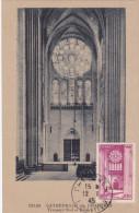Carte Maximum FRANCE N°Yvert 664 (Cathédrale De CHARTRES) Obl Sp 1945 - 1940-49
