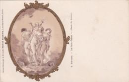 MUSEE DU LOUVRE  .F.BOUCHER  LES TROIS GRACES  C.P.A - Musées