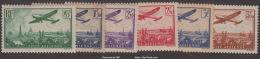 Série Avion Survolant Paris Neuf * TB (Y&T N° 8 à 13 , Cote 170€€) - Poste Aérienne