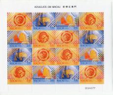 China Chine : (8008) 1998 Bloc Feuille De Macau Macao - Tuiles à Macao SG1076/9** - Chine