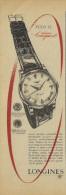 # LONGINES SAINT-IMIER SUISSE HORLOGERIE 1950s Italy Advert Publicitè Reklame Orologio Montre Uhr Reloj Relojo Watch - Montres Publicitaires