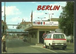 Deutschland Ansichtskarte Berlin Checkpoint CHARLIE 1996 Nach Estland Gesendet - Germany