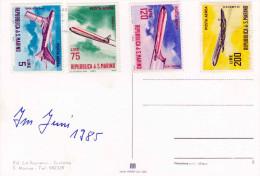 1985 - 4 Sondermarken Flugzeuge San Marino Auf Schöner Ak San Marino Scalette - San Marino