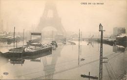 PARIS 7 - Vue De La Tour Eiffel (Crue De La S., Janvier 1910)                 -- ELD - Distretto: 07