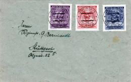 1943 - Böhmen Und Mähren, Deutsches Reich, 3 Fach Frankierung Auf Brief Nach Stuttgart - Brieven En Documenten