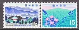 JAPAN   986-7  *  PARKS - Unused Stamps