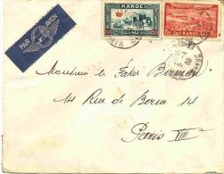 Lettre Du Maroc Par Avion Pour La France - Storia Postale