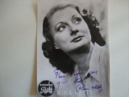 Autographe De Rina Ketty (port Compris) - Autres Collections