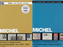 Michel 3.Reich D Handbuch Block/Ecke 2014 New 150€ Handbook DR Corner Bloc Sheetlet Se-tenant Error Catalogue Of Germany - Guides & Manuels