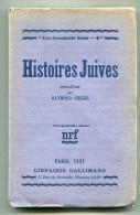 Judaica Raymond GEIGER  Histoires Juives 1937 - Books, Magazines, Comics