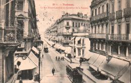 31 TOULOUSE LA RUE ALSACE LORRAINE AU CARREFOUR DE LA POMME TRAMWAY CIRCULEE 1905 - Toulouse