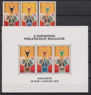 Madagascar  N° 504 à 560  + Bloc N°  6  Neufs **   (Exposition Philatélique Malgache) - Madagascar (1960-...)