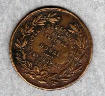 59 - NORD - MEDAILLE SOUVENIR DES GRANDES FETES ET DU FESTIVAL DE DOUAI 9 ET 10 JUILLET 1882 - Other