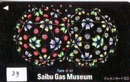 T�l�carte JAPON * MUSEUM  (23) TELEFONKARTE * JAPAN PHONECARD * MUS�E * GAS MUSEUM
