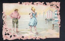 SCENE DE PLAGECHROMO DECOUPIS CHICOREE A LA BELLE JARDINIERE - C. BERIOT à LILLE - Other