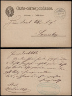 Switzerland 1878 Postal History Rare Old Postcard Postal Stationery Bienne To Sonceboz D.794 - Covers & Documents