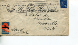 (725) Finland To Australia 1939 SCARCE Cover - Advertising The 1940 Helsinki Olympic Games - Andere