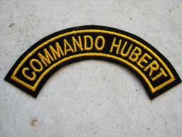 INSIGNE TISSUS PATCH INSIGNE DE MANCHE COMMANDOS MARINE COMMANDO HUBERT ETAT EXCELLENT
