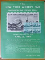 1964 USA P.O.Poster FDC Sc # 1244 New York World's Fair (Block Of 4) - First Day Covers (FDCs)