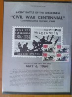 1964 USA P.O.Poster FDC Sc # 1181 Civil War Centennial - Battle Of The Wilderness (Block Of 4) - First Day Covers (FDCs)
