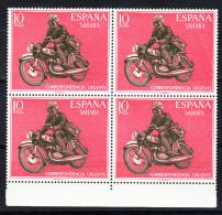 SAHARA 1971.CORRESPONDENCIA URGENTE.CARTERO MOTORIZADO  BLOQUE DE 4   EDIFIL Nº 292.  NUEVO  SIN   CHARNELA  SES085 - Sahara Español