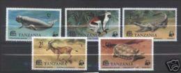 W12 WWF W.W.F. Tanzania MNH Stamps 1977 : ENDANGERED SPECIES - W.W.F.