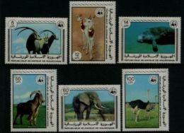 W17 WWF W.W.F. Mauritania MNH Stamps 1977 : Endangered Animals - W.W.F.