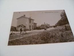 CPA 01 CHALAMONT  LA GARE 1923 - France