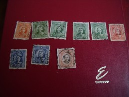 Timbres  De Collection  Chine   Année; 1931-37   Y.T.  N°  221  Etc....9 T   Type1-2 - Chine
