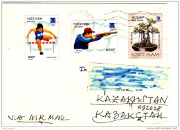 [A] Enveloppe Cover Lettre Letter Vietnam JO Athènes Athens Olympics Jeux Olympique Tir Shooting Bonsai - Zomer 2004: Athene