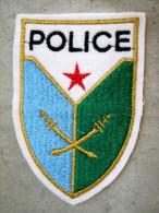 INSIGNE TISSUS PATCH POLICE DE DJIBOUTI ETAT EXCELLENT