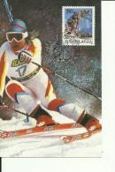 FIS  --  SKI WORLD CUP  --   ZLATNA LISICA, GOLDEN FOX, MARIBOR, SLOVENIA  ---  1990  --  CARTE MAXIMUM - Yugoslavia