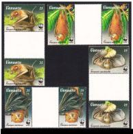 (WWF-196) W.W.F. Vanuatu Bat MNH Gutter Pairs GP 02 Sets 1996 - W.W.F.