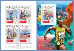 slm14213ab Solomon Is. 2014 Moscow Sport Athletics 2 s/s